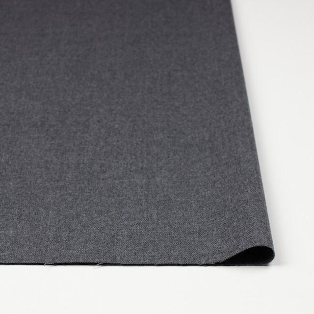 ウール&ポリウレタン×無地(グレー)×サージストレッチ イメージ3