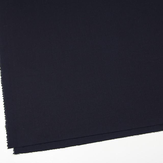 ウール&ポリウレタン×無地(ダークネイビー)×サージストレッチ イメージ2