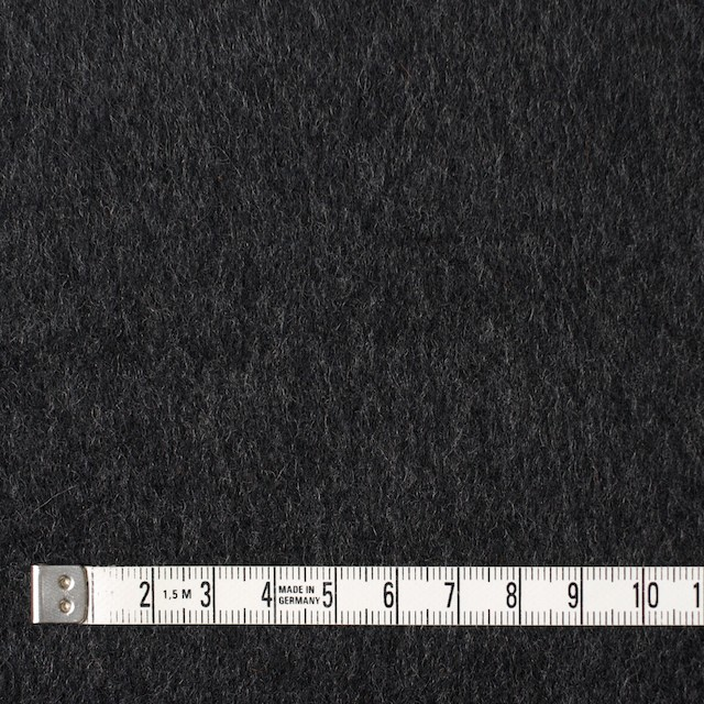ウール×無地(チャコールグレー)×ビーバー イメージ4