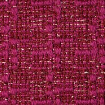 ウール&ポリエステル×ミックス(チェリーピンク)×ファンシーツイード_全2色