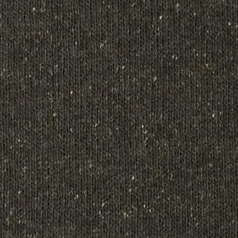ウール&シルク混×無地(カーキグリーン)×天竺ニット