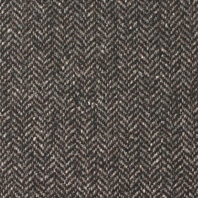 ポリエステル&ウール混×無地(カーキブラウン)×ヘリンボーンストレッチ_イタリア製 イメージ1