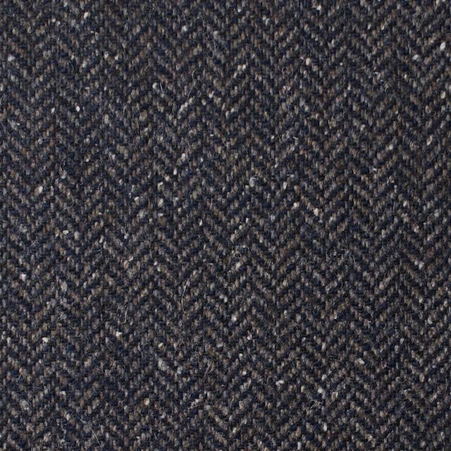 ポリエステル&ウール混×無地(アイアンネイビー)×ヘリンボーンストレッチ_イタリア製 イメージ1