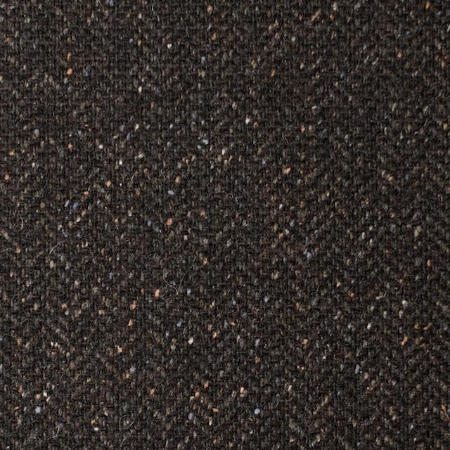 ポリエステル&ウール混×無地(ブラウン)×ヘリンボーンストレッチ_イタリア製 イメージ1