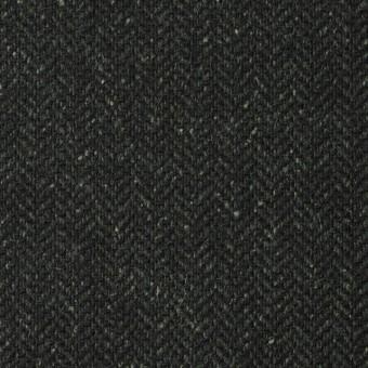 ポリエステル&ウール混×無地(モスグリーン)×ヘリンボーンストレッチ_イタリア製 サムネイル1