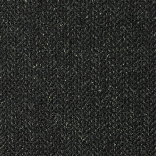 ポリエステル&ウール混×無地(モスグリーン)×ヘリンボーンストレッチ_イタリア製 イメージ1