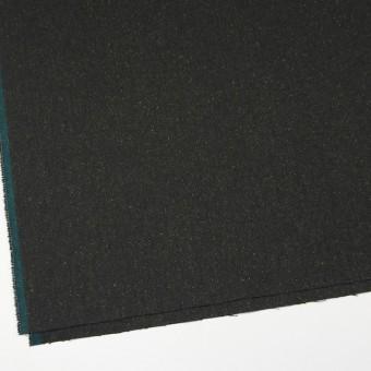 ポリエステル&ウール混×無地(モスグリーン)×ヘリンボーンストレッチ_イタリア製 サムネイル2