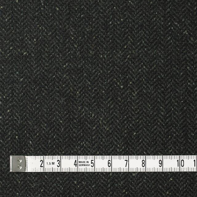 ポリエステル&ウール混×無地(モスグリーン)×ヘリンボーンストレッチ_イタリア製 イメージ4
