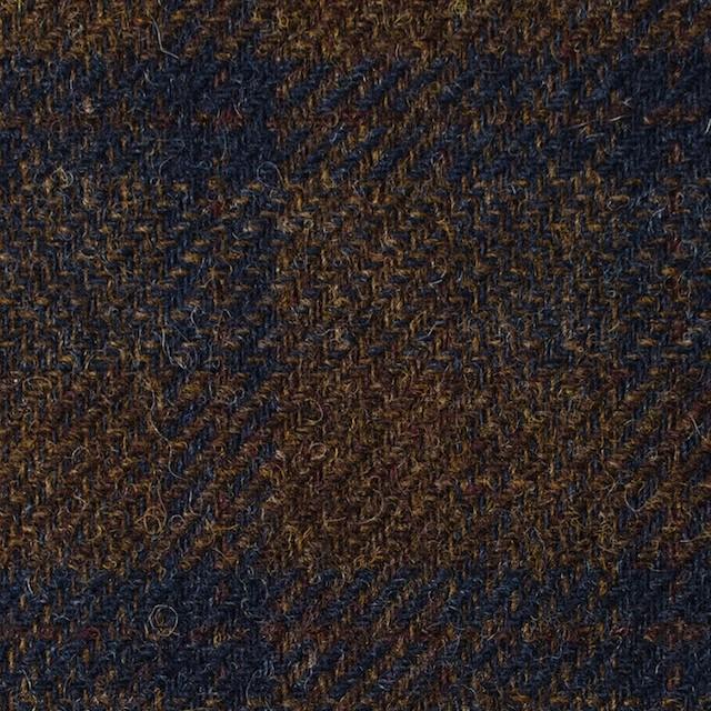 ウール×チェック(モカブラウン&ネイビー)×ツイード イメージ1