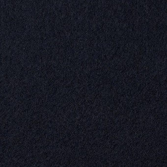 ウール×無地(ダークネイビー)×メルトン