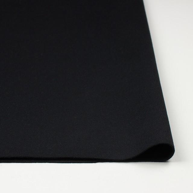 ウール×無地(ブラック)×メルトン イメージ3