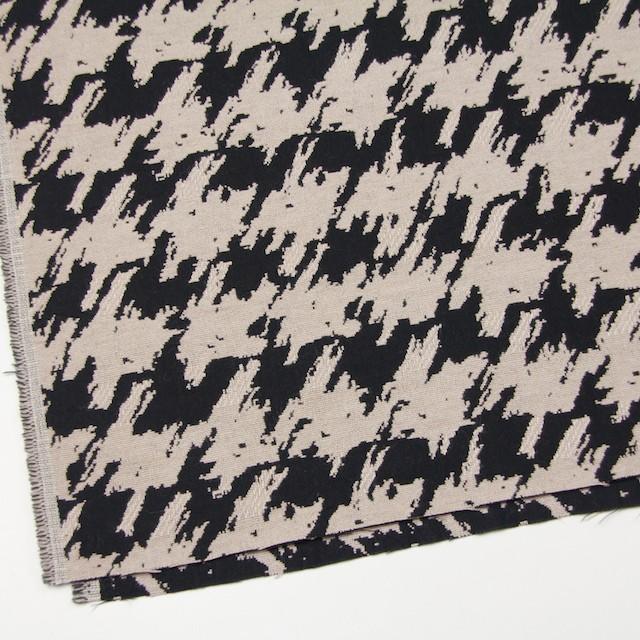ウール×幾何学模様(グレイッシュベージュ&ブラック)×風通織ジャガード イメージ2