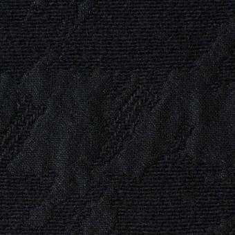 ウール×幾何学模様(ブラック)×風通織ジャガード サムネイル1