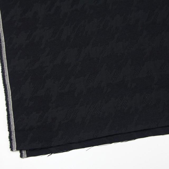ウール×幾何学模様(ブラック)×風通織ジャガード イメージ2
