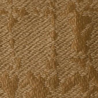 ウール&キュプラ×幾何学模様(アンティークゴールド)×ジャガード_全2色