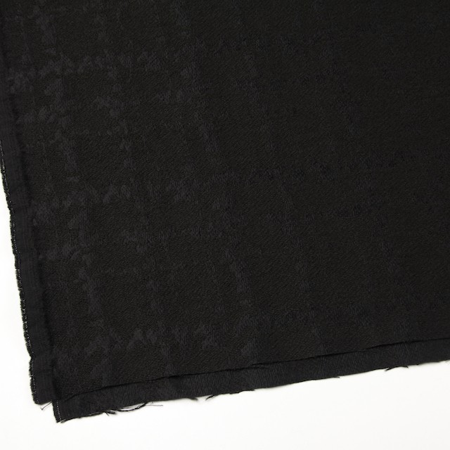 ウール&キュプラ×幾何学模様(ブラック)×ジャガード_全2色 イメージ2