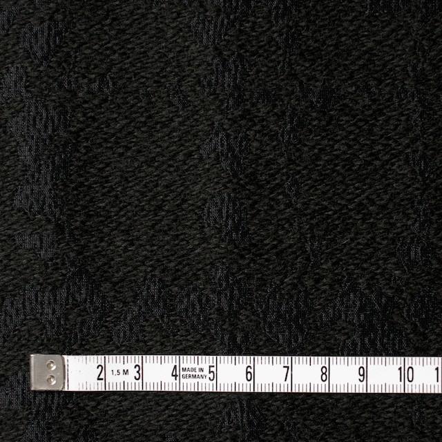 ウール&キュプラ×幾何学模様(ブラック)×ジャガード_全2色 イメージ4