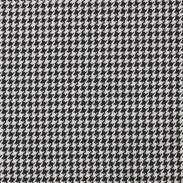 ウール×チェック(アイボリー&ブラック)×千鳥格子 イメージ1