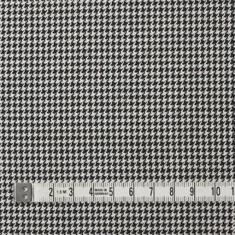 ウール×チェック(アイボリー&ブラック)×千鳥格子 サムネイル4
