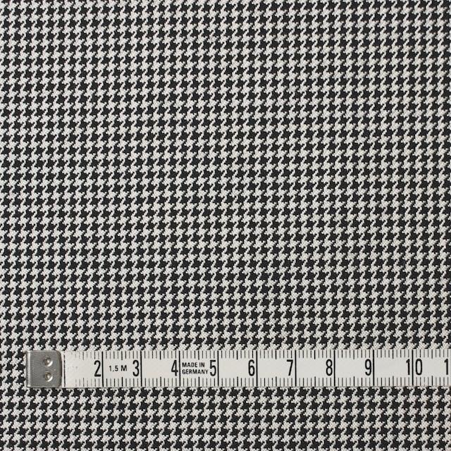 ウール×チェック(アイボリー&ブラック)×千鳥格子 イメージ4