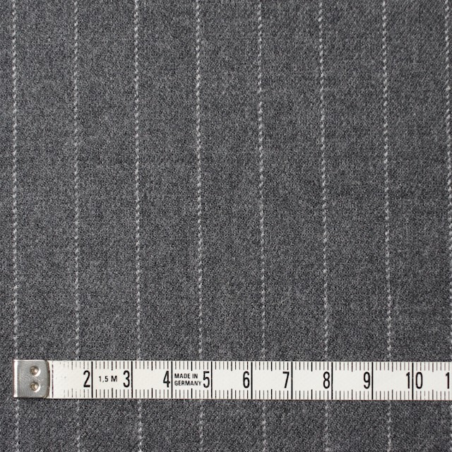 ウール&ポリウレタン×ストライプ(グレー)×サージストレッチ イメージ4