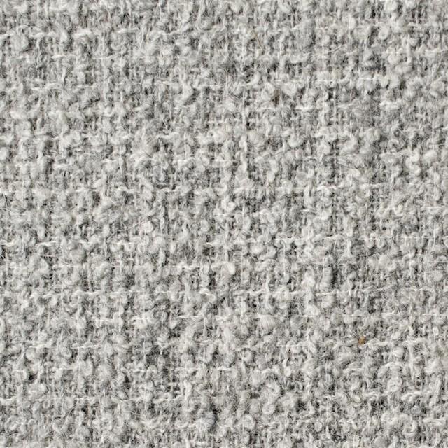 ウール×無地(ライトグレー)×ファンシーツイード イメージ1