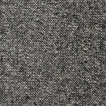 ウール&ポリウレタン×無地(チャコールグレー)×ツイードストレッチ