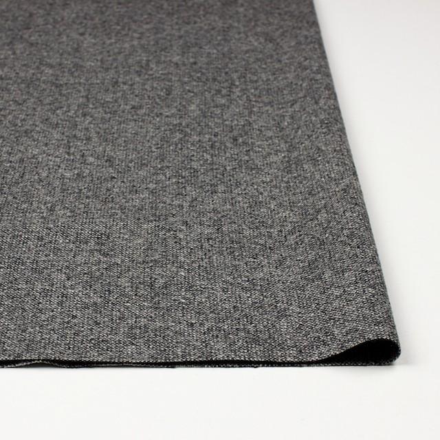 ウール&ポリウレタン×無地(チャコールグレー)×ツイードストレッチ イメージ3