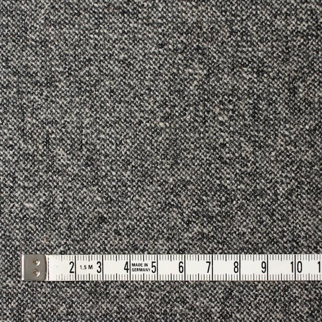ウール&ポリウレタン×無地(チャコールグレー)×ツイードストレッチ イメージ4