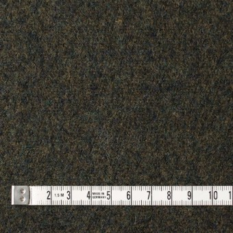 ウール×無地(ダークカーキグリーン)×メルトン サムネイル4