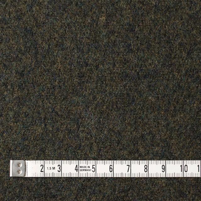 ウール×無地(ダークカーキグリーン)×メルトン イメージ4