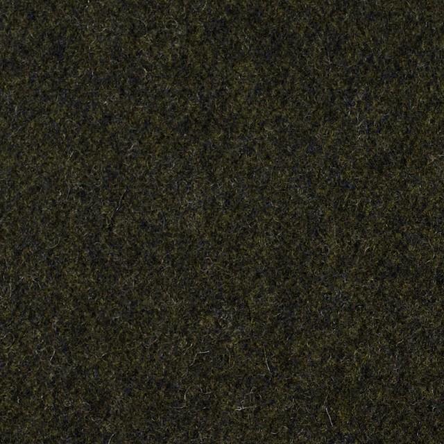 ウール×無地(ダークカーキ)×メルトン イメージ1