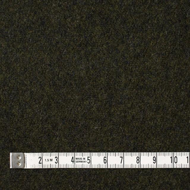 ウール×無地(ダークカーキ)×メルトン イメージ4