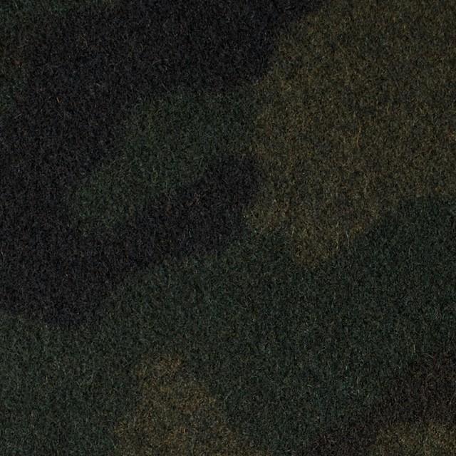 ウール&ポリエステル×迷彩(カーキミックス)×フラノ(フランネル) イメージ1