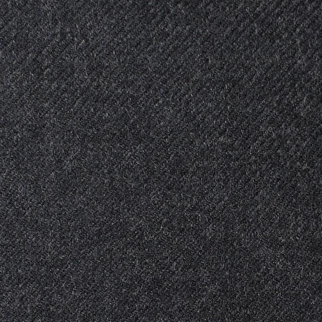 ウール×無地(チャコールグレー)×サキソニー イメージ1