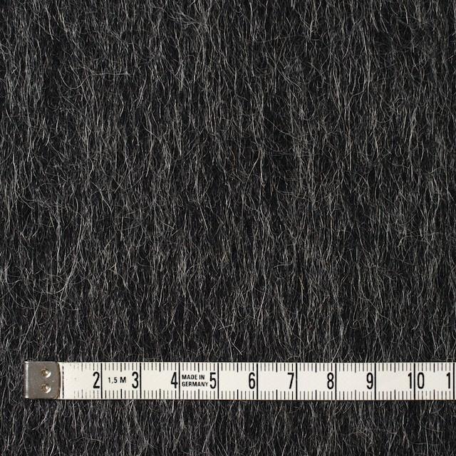 ウール×無地(チャコールグレー)×シャギー イメージ4