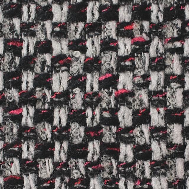 ウール&ナイロン×ミックス(シルバー&ブラック)×ファンシーツイード_イタリア製 イメージ1