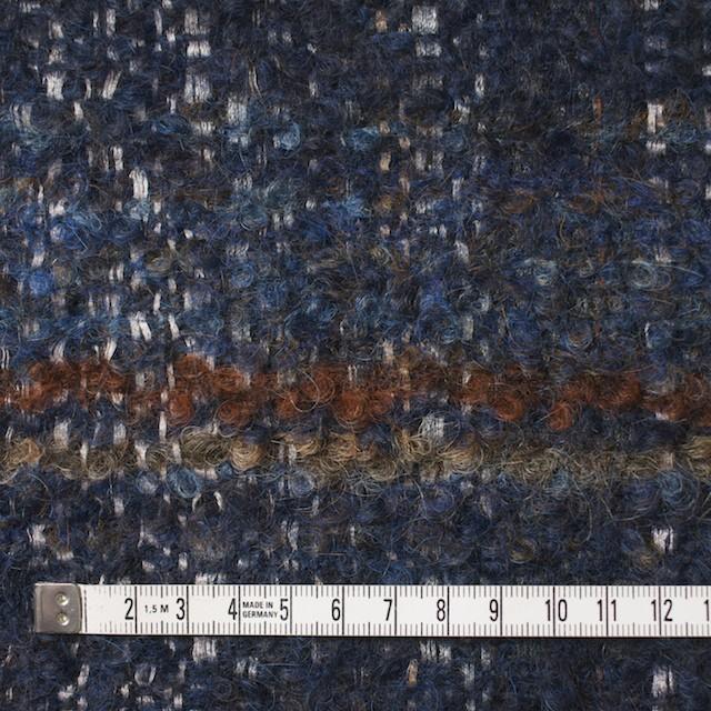 ウール&シルク×ミックス(ブルー)×ファンシーツイード_全2色_イタリア製 イメージ4