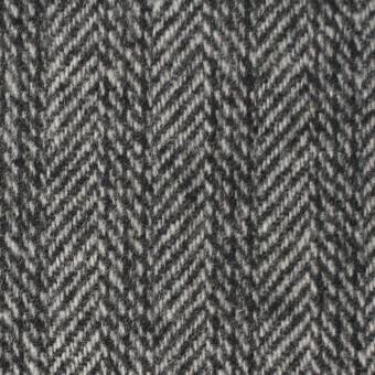 ウール&ナイロン×ストライプ&無地(グレー)×ヘリンボーン&ツイード