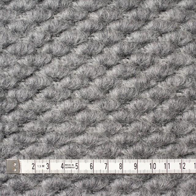 ウール&ポリエステル×無地(シルバーグレー)×ループニット_イタリア製 イメージ4