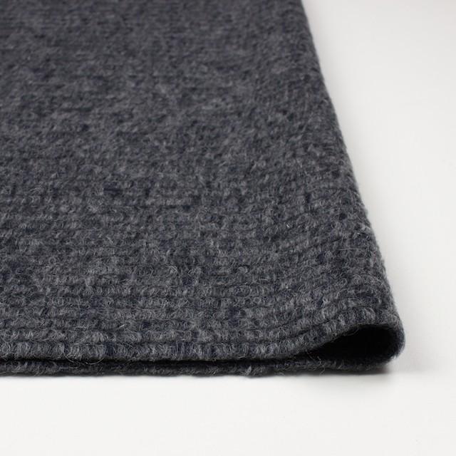 ウール&モヘア混×無地(グレー&ネイビー)×ループニット_イタリア製 イメージ3