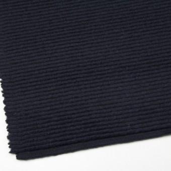 ウール&モヘア混×無地(ダークネイビー)×ループニット_イタリア製 サムネイル2