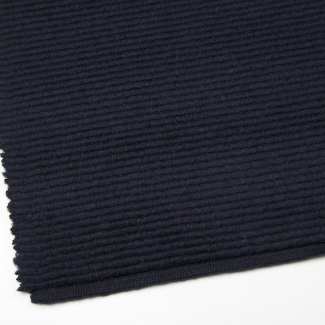 ウール&モヘア混×無地(ダークネイビー)×ループニット_イタリア製 イメージ2