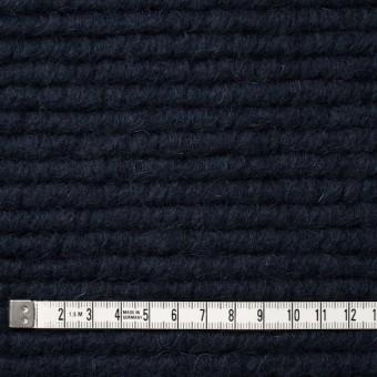 ウール&モヘア混×無地(ダークネイビー)×ループニット_イタリア製 サムネイル4