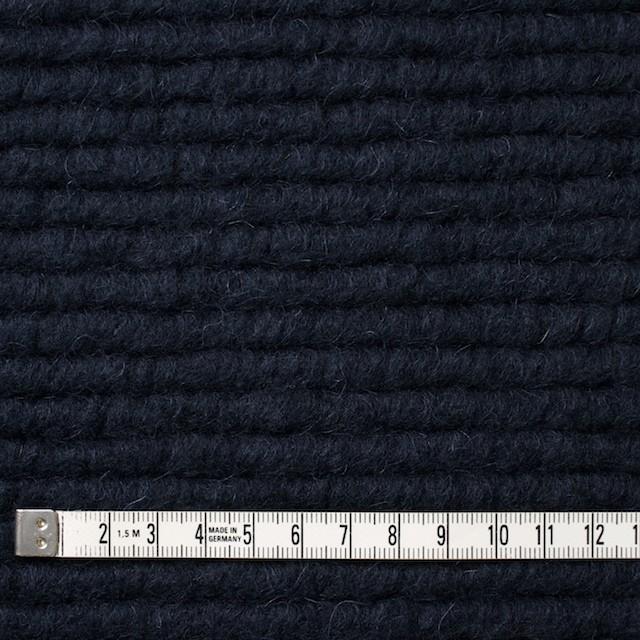 ウール&モヘア混×無地(ダークネイビー)×ループニット_イタリア製 イメージ4