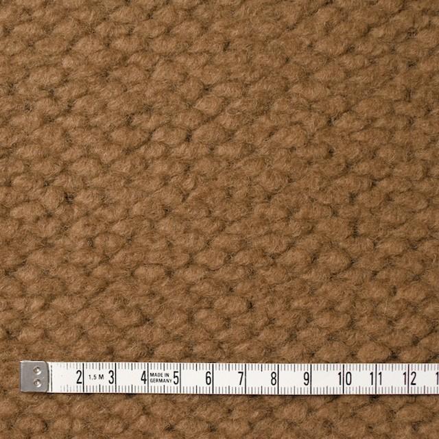 ポリエステル&ウール混×無地(キャメル)×ループニット_全2色_イタリア製 イメージ4