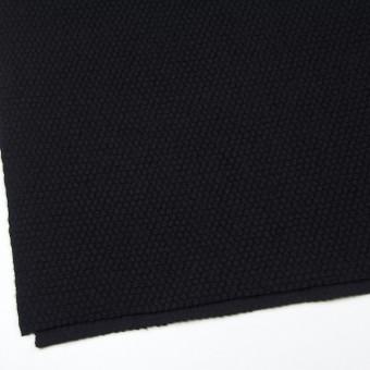 ウール&ポリエステル×無地(ブラック)×ループニット サムネイル2