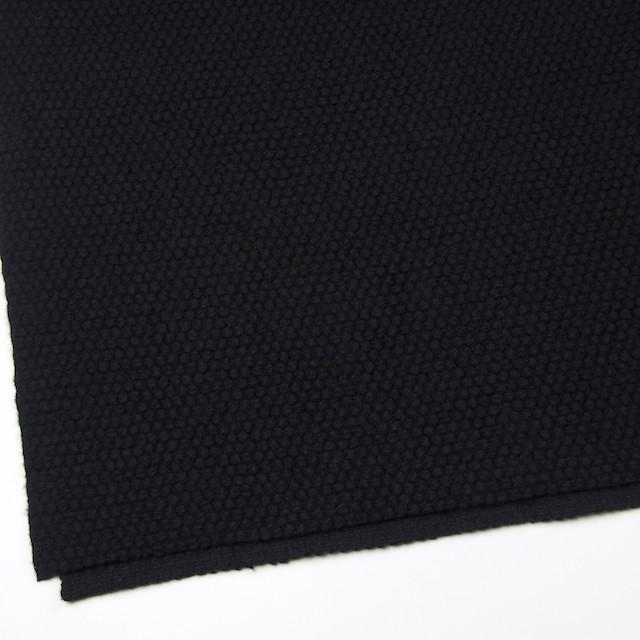 ウール&ポリエステル×無地(ブラック)×ループニット イメージ2
