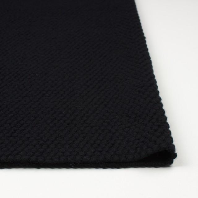 ウール&ポリエステル×無地(ブラック)×ループニット イメージ3