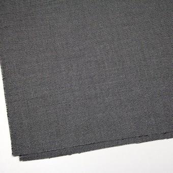ウール&ポリエステル混×無地(シルバー&ブラック)×バーズアイ・ストレッチ サムネイル2